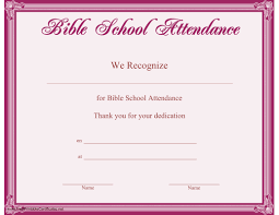 Vbs Certificate Template 17 Images Of Attendance Certificate Template For Vbs