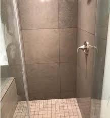 after tile shower