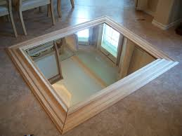 contractor grade mirror framed with stain grade wood