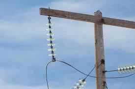 utility look like insulator caps poles glass
