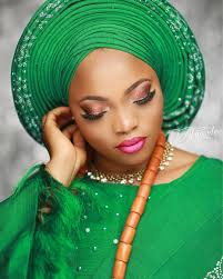 nigerian bridal makeup tutorial with pleated crossover gele