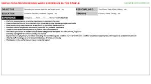 Resume For Pediatrician Pediatrician Resume Sample