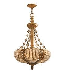 crystorama lighting celeste 3 light chandelier in silverado gold crystal beads 6734 sg