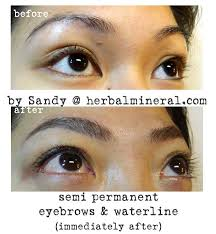 semi permanent eyebrows and eyeliner