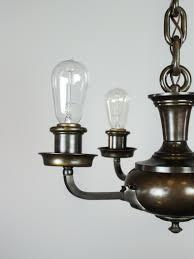 artistic arts crafts bare bulb pan light fixture 4 light
