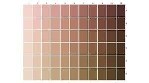 Genuine Art Skin Color Chart 2019