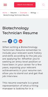 Unlike a resume, a cover letter lets you can introduce yourself to the hiring manager, provide context for your achievements and qualifications, and explain your motivation for joining the company. Biotechnology Cv 20 Guides Examples
