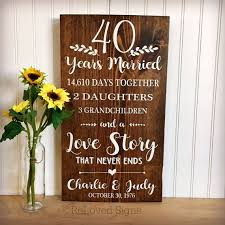 40th anniversary 40 years married anniversary gift gifts