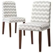 grey and white upholstered chairs. threshold: marion upholstered dining chair grey \u0026 white chevron - set and chairs r