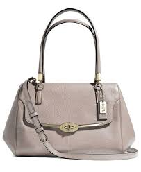 Coach Madison Grey Birch Small Leather Madeline East West Satchel