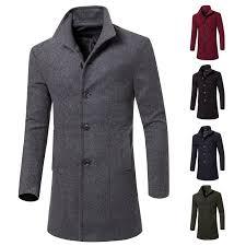 men wool trench coat winter long jacket overcoat classic pea coat denim sheepskin jacket denim wool jacket from christinaaa 37 19 dhgate com