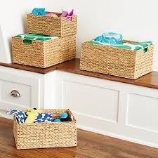 decorative bins baskets