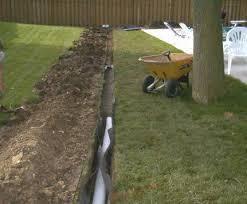 drainage correction drain tile rain gardens