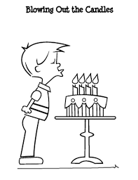 Small Picture Blowing Off Birthday Candles Coloring Coloring Pages
