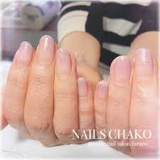 春夏ハンドグラデーションラメ Nails Chakoのネイルデザインno