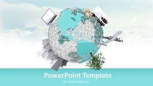 Powerpoint World 3d Small World Powerpoint Template
