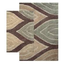 chesapeake merchandising davenport tan two piece bath rug set