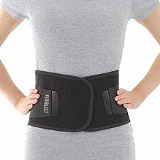 FINALIST Adjustable Back Brace - Lumbar Support Belt for Severe Lower Pain Relief Black (XXL)