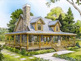 Mountain House Plans   Small Mountain Home Plan Design   H     Mountain House Plan  H