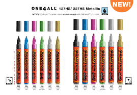 Molotow One4all Color Chart Molotow Paint Markers Forstall Art Center