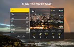 Metro Template Simple Metro Weather Widget Flat Responsive Widget Template