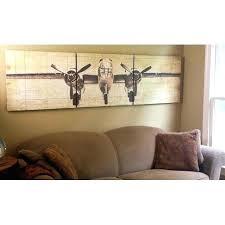 vintage aviation wall art