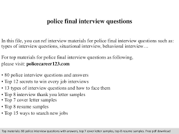Sample Resume Questions policefinalinterviewquestions100phpapp100thumbnail100jpgcb=110010339129 48