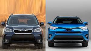 2016 Subaru Forester vs 2016 Toyota RAV4 SE - YouTube
