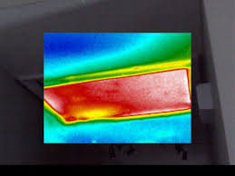 here you can clearly see how poor insulation on an attic access panel looks using thermal imaging it is a big gaping hole in your insulation coverage