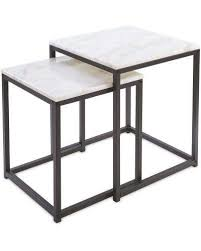 real marble nest of 2 tables aldi