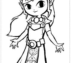 Quality Princess Zelda Coloring Pages H5697 Beneficial Legend Of