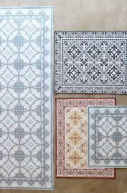 Vinyl Kitchen Floor Mats Moroccan Tile Vinyl Floor Mats Everything Home Goods Garden