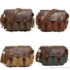 2019 canvas messenger bag for men and women messenger bag vintage canvas leather military shoulder laptop bags g165s from sea blooms 51 5 dhgate com