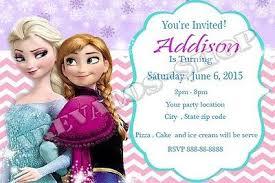 Frozen Birthday Invitations Frozen Birthday Invitations 1 00 Picclick