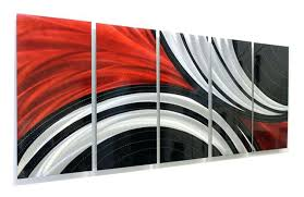 black metal wall art red black and silver contemporary metal wall art sculpture red and black on black metal flower wall art uk with black metal wall art bghconcert fo