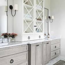 bathroom vanity and linen cabinet. Gray Oak Bath Vanity Cabinets And Drawers Bathroom Linen Cabinet