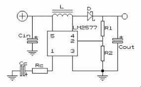 6v to 12v dc to dc voltage converter schematic design