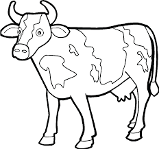 Cow Coloring Page Navenbyarchaeologygrouporg