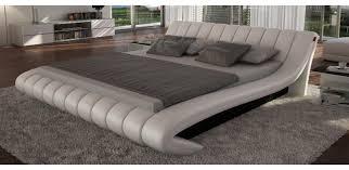 Celeste Modern Leather Light Grey Platform Bed