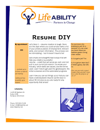 Purpose Of A Resume Resume DIY LifeABILITY 35