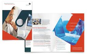 Company Brochure Example Computer Software Company Brochure Design Template By