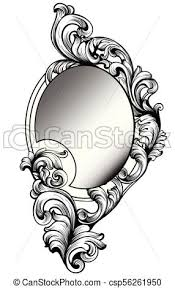 Mirror frame vector Round Baroque Round Mirror Frame Vector Imperial Decor Design Elements Rich Encarved Ornaments Line Arts Can Stock Photo Baroque Round Mirror Frame Vector Imperial Decor Design Elements