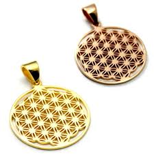 the essence silver 925 18k pink gold pendant pendant top of the flower of life flower of life geometry life