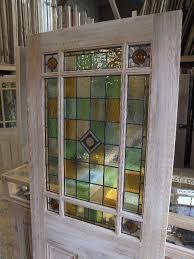 external downham stained glass door