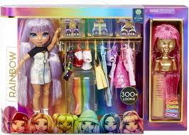 Rainbow High Fashion Studio Includes Free Exclusive Doll With Rainbow Of Fashions And 2 Sparkly Wigs To Create 300 Looks Clothes Accessories For Kids Ages 3 Toys Games