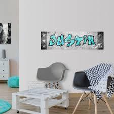 Mini Muursticker Paneel Graffiti Met Naam Jongenskamer