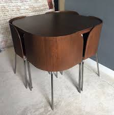 space saving dining table and 4 chairs dining room ideas