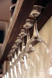 wine glass rack this been handy to know when i was at earlier diy under wine glass rack