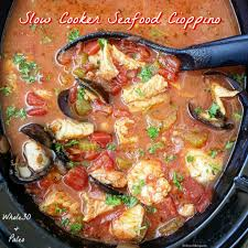 Slow Cooker Seafood Cioppino (Paleo ...