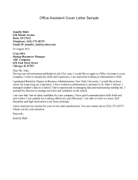 Enchanting Cover Letter Samples For Office Assistant 33 On Cover
